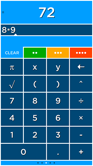 how to find the square root on a iphone calculator